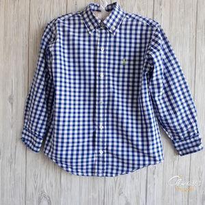 Ralph Lauren Boys Gingham Check Shirt Size 5